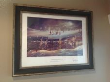 Christmas Day Truce framed A3 Print